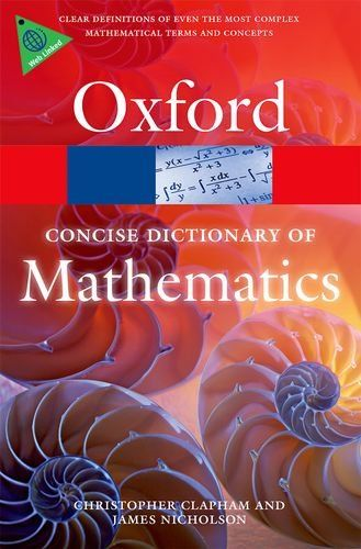 9780199679591 image Concise Oxford Dictionary of Mathematics