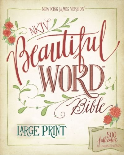 9780310446088 image NKJV, Beautiful Word Bible, Large Print, Leathersoft, Teal, Red Letter Edition
