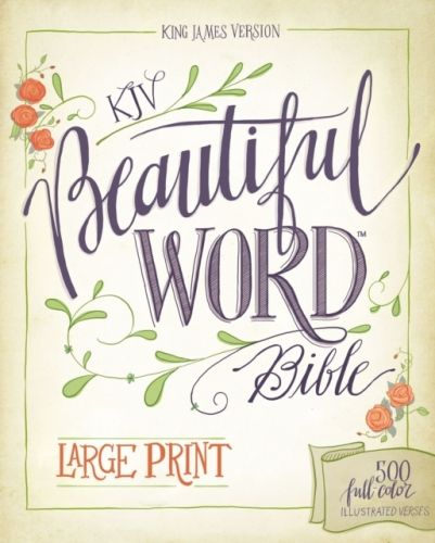 9780310446101 image KJV, Beautiful Word Bible, Large Print, Hardcover, Red Letter Edition