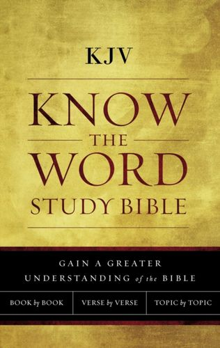 9780718091606 image KJV, Know The Word Study Bible, Cloth over Board, Red Letter Edition