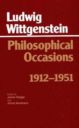 9780872201545 image Philosophical Occasions: 1912-1951