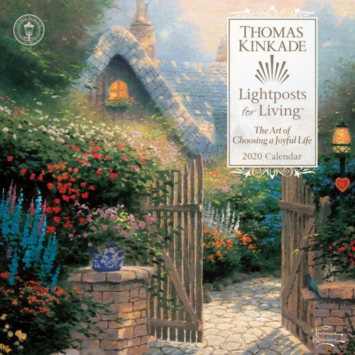 Thomas Kinkade Lightposts for Living 2020 Square Wall Calendar