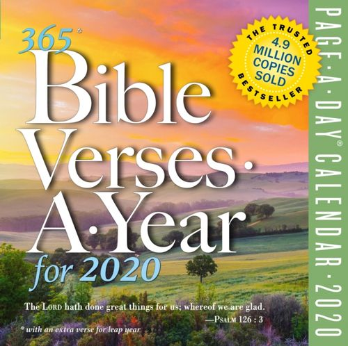 2020 365 Bible Verses-A-Year Colour Page-A-Day Calendar