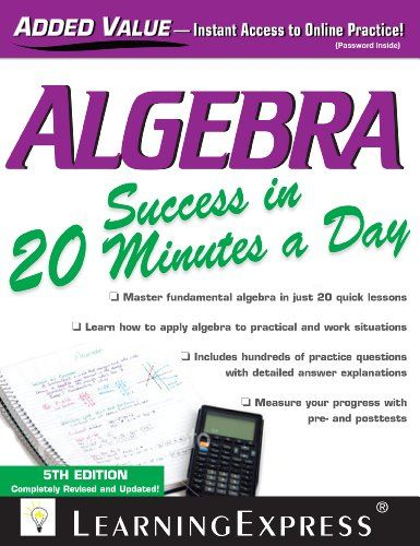 Algebra Success in 20 Minutes a Day
