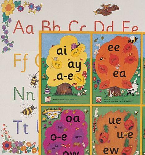 9781903619124 image Jolly Phonics Alternative Spelling & Alphabet Posters