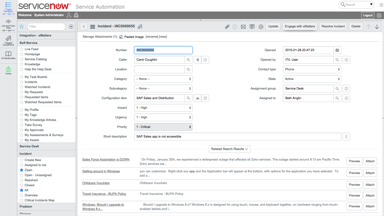 ServiceNow Integration | Automate Context-Rich Tickets - xMatters