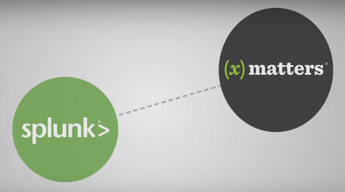 Splunk triggers an xMatters integration
