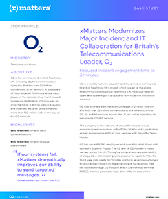 xMatters Modernizes Major Incident and IT Collaboration for Britain's Telecommunications Leader, O₂
