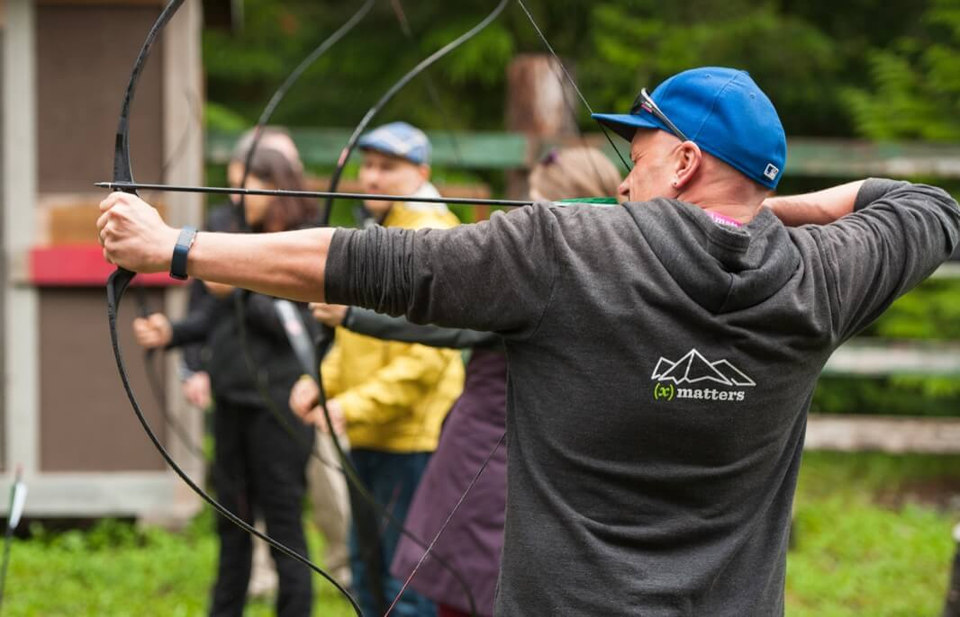 Archery company team building event
