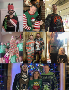 For the holidays, our remote xPerts participated in a Tacky Holiday Sweater contest. Winners received donations to the charity of their choice.