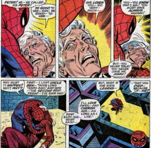 Spider-Man and Uncle Ben