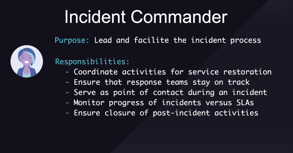 Incident Management Roles and Responsibilities: Incident Commander
