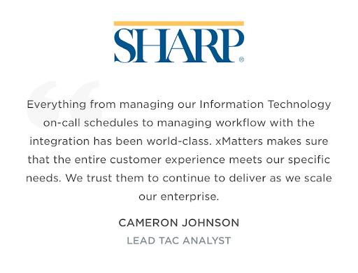 Sharp customer quote