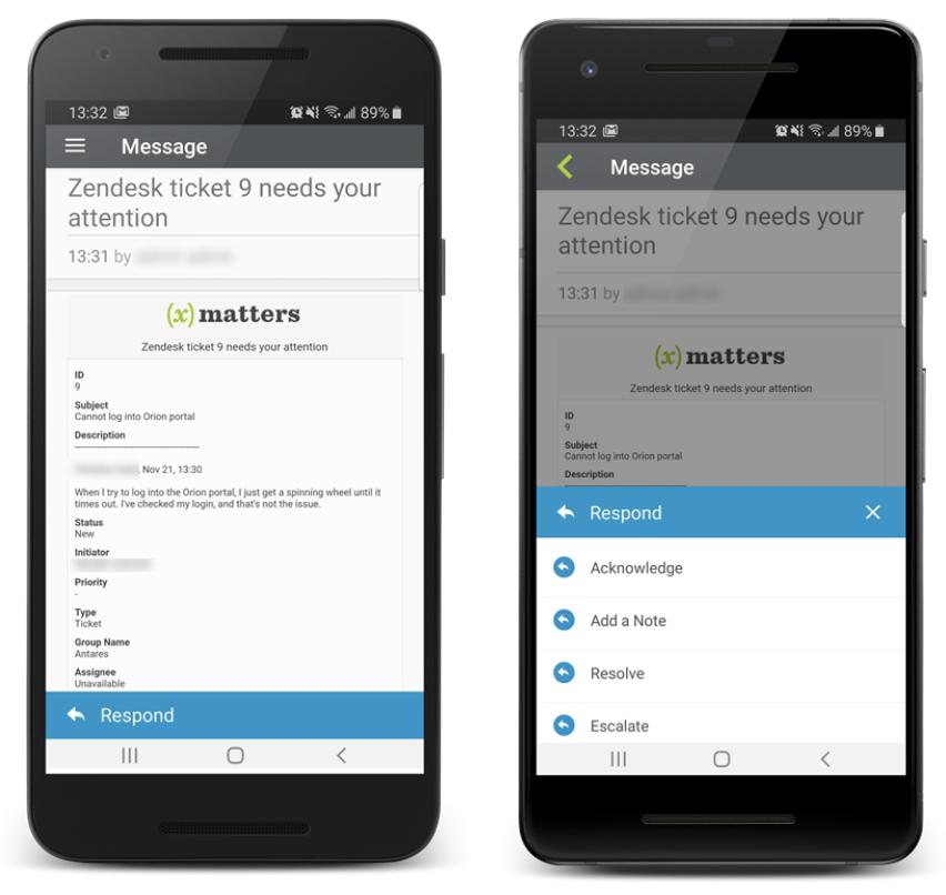 Zendesk packaged workflow at iOS
