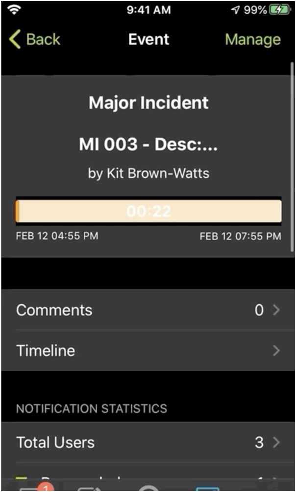 Create a new event and add details with a few taps on your mobile device.