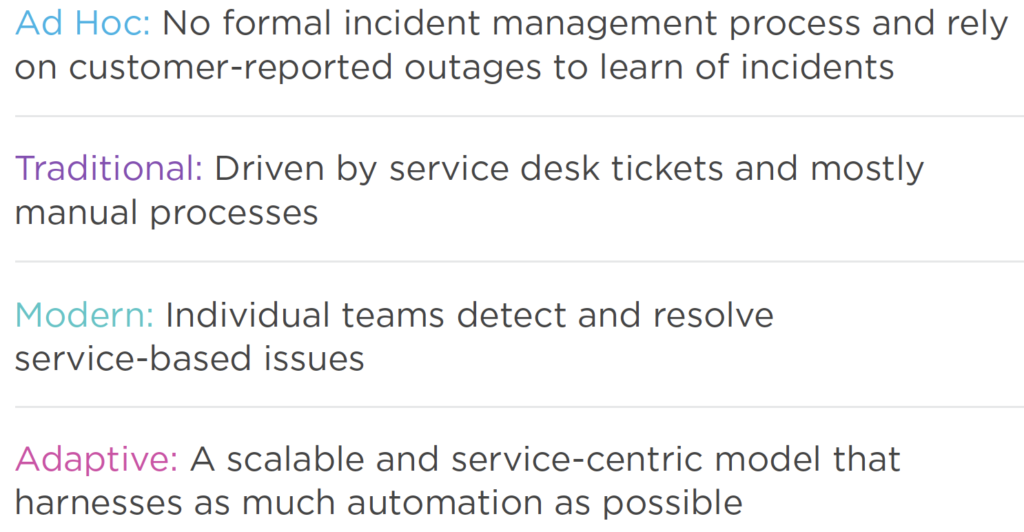 Rankings in the State of Automation in Incident Management research study