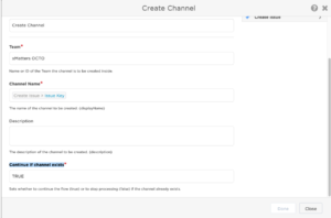 Continue if channel exists parameter