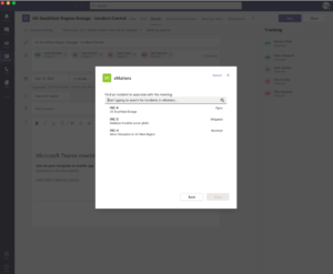 Search for incidents to create the tab in Microsoft Teams Channel