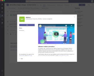 Add a tab with the xMatters bot to the Microsoft Teams channel