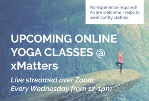 xMatters virtual yoga sessions