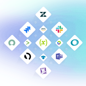 An illustration of some of the integrations available with xMatters.