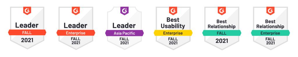 G2 Fall 2021 Badges