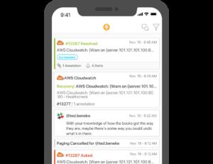 Splunk On-Call Mobile App Timeline