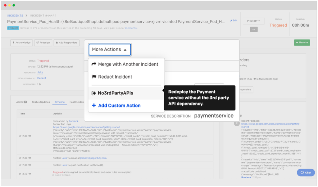PagerDuty Rundeck Automation
