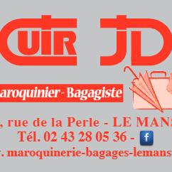 Cuir J . D . maroquinerie et article de voyage (détail)