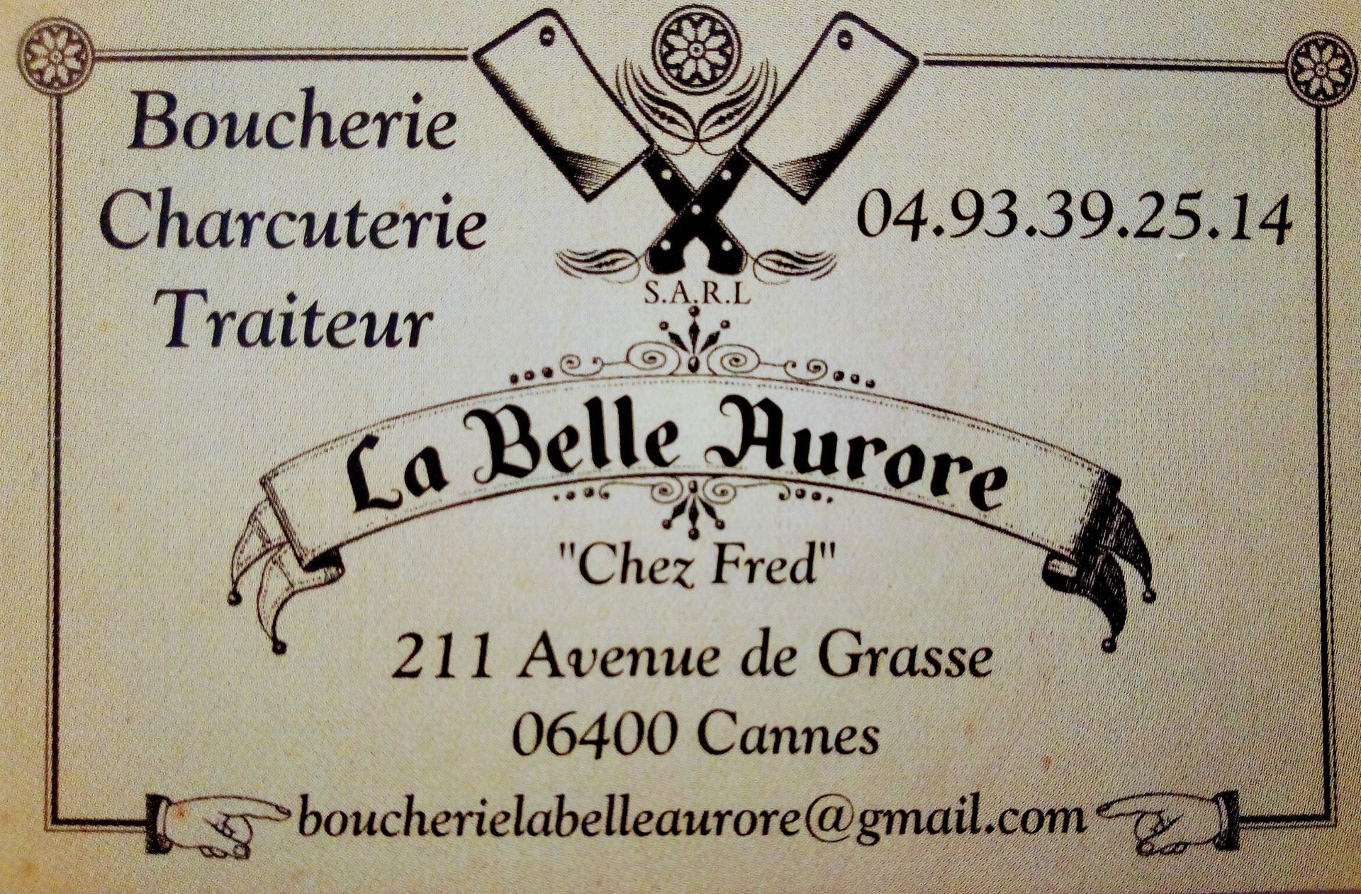 La Belle Aurore boucherie et charcuterie (détail)