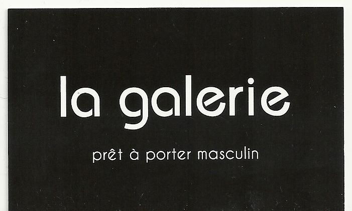 La Galerie vêtement pour homme (détail)