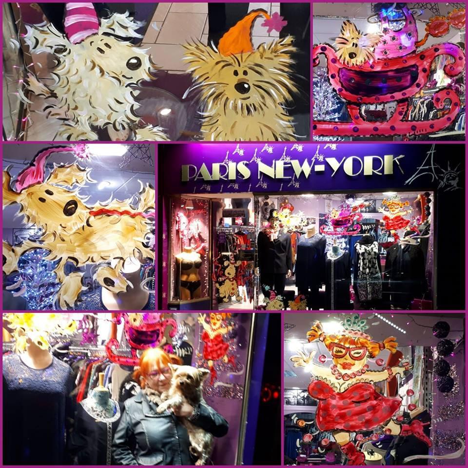 Paris New-York vêtement pour femme (détail)