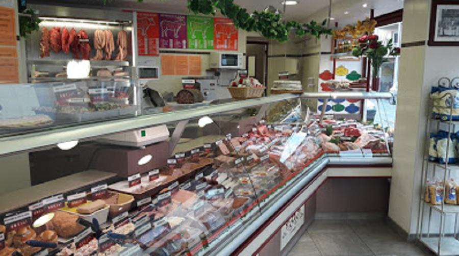 Boucherie De la Place boucherie et charcuterie (détail)