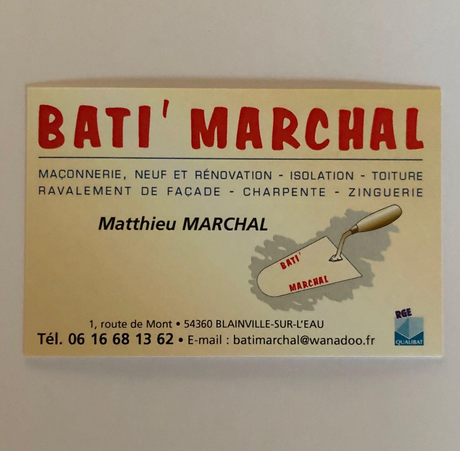 Bati'Marchal entreprise de maçonnerie