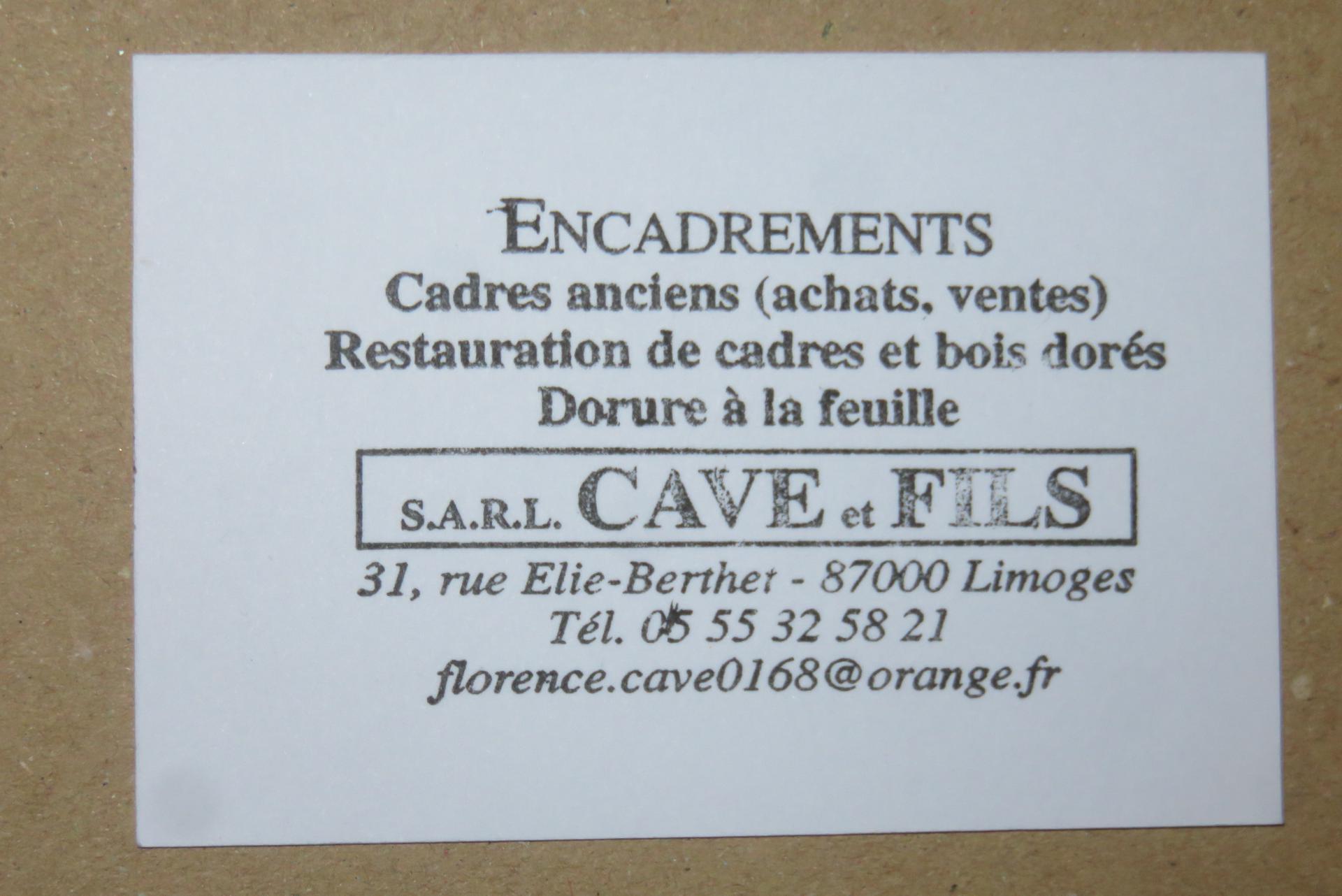 Cave et Fils SARL tableau, estampe et reproduction d'art (commerce)