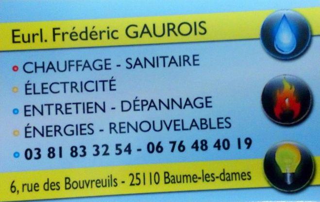 Gaurois Frédéric EURL climatisation, aération et ventilation (fabrication, distribution de matériel)