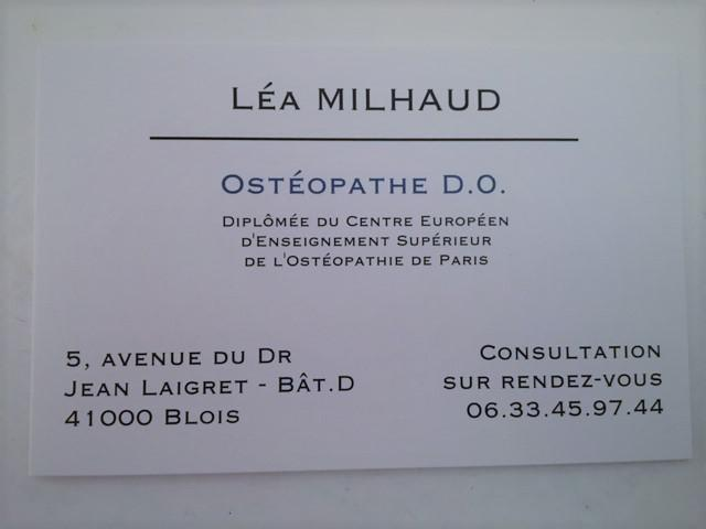 Milhaud Léa ostéopathe