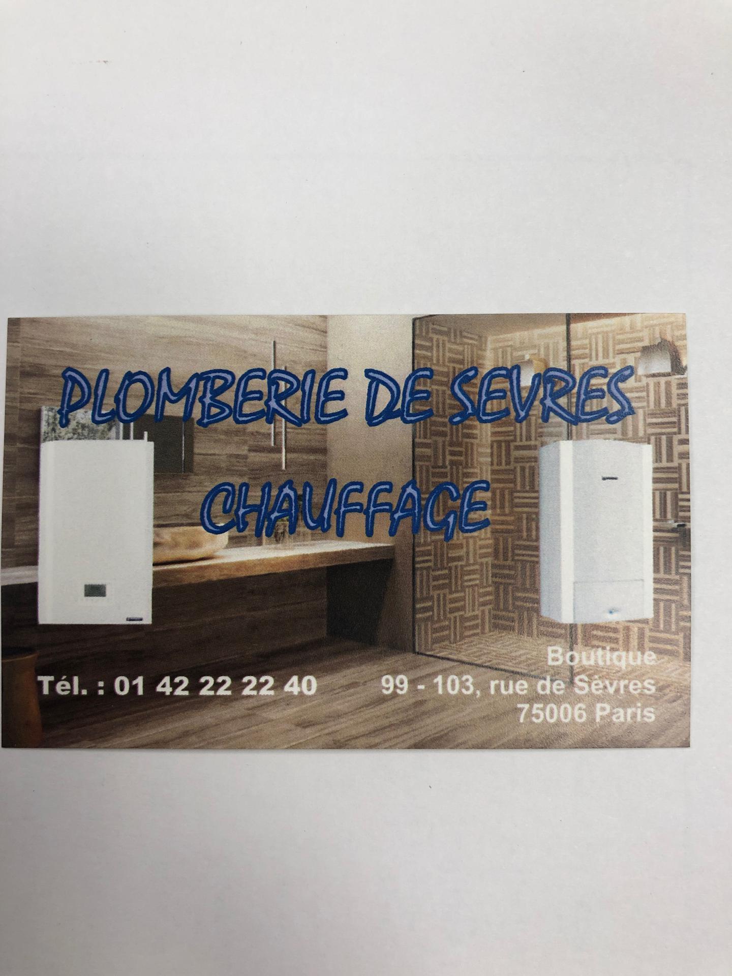 Plomberie de Sèvres plombier