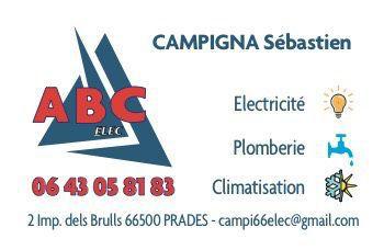 Abc Elec Plomberie Climatisation climatisation, aération et ventilation (fabrication, distribution de matériel)