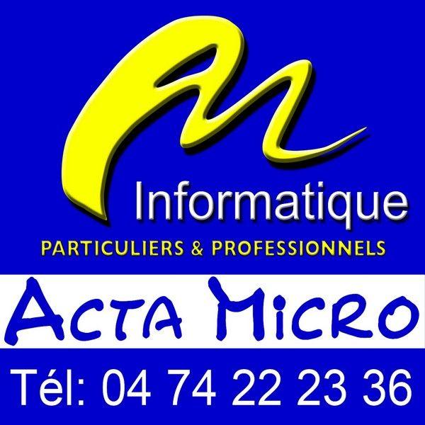Acta Micro vente, maintenance de micro-informatique