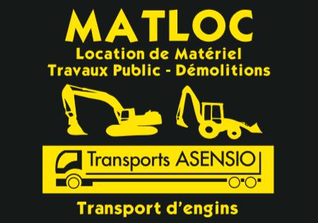 Matloc - Transports Asensio entreprise de travaux publics