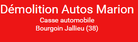 Marion SARL casse auto