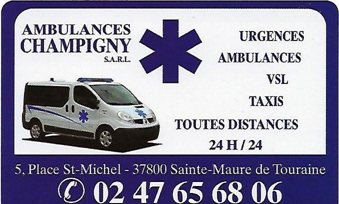 Ambulances Champigny Gérard pompes funèbres, inhumation et crémation (fournitures)