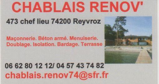 CHABLAIS RENOV' rénovation immobilière