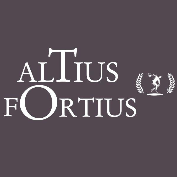 Altius Fortius CITIUS vêtement pour homme (détail)