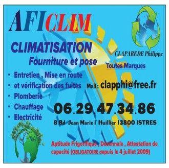 AFICLIM climatisation, aération et ventilation (fabrication, distribution de matériel)