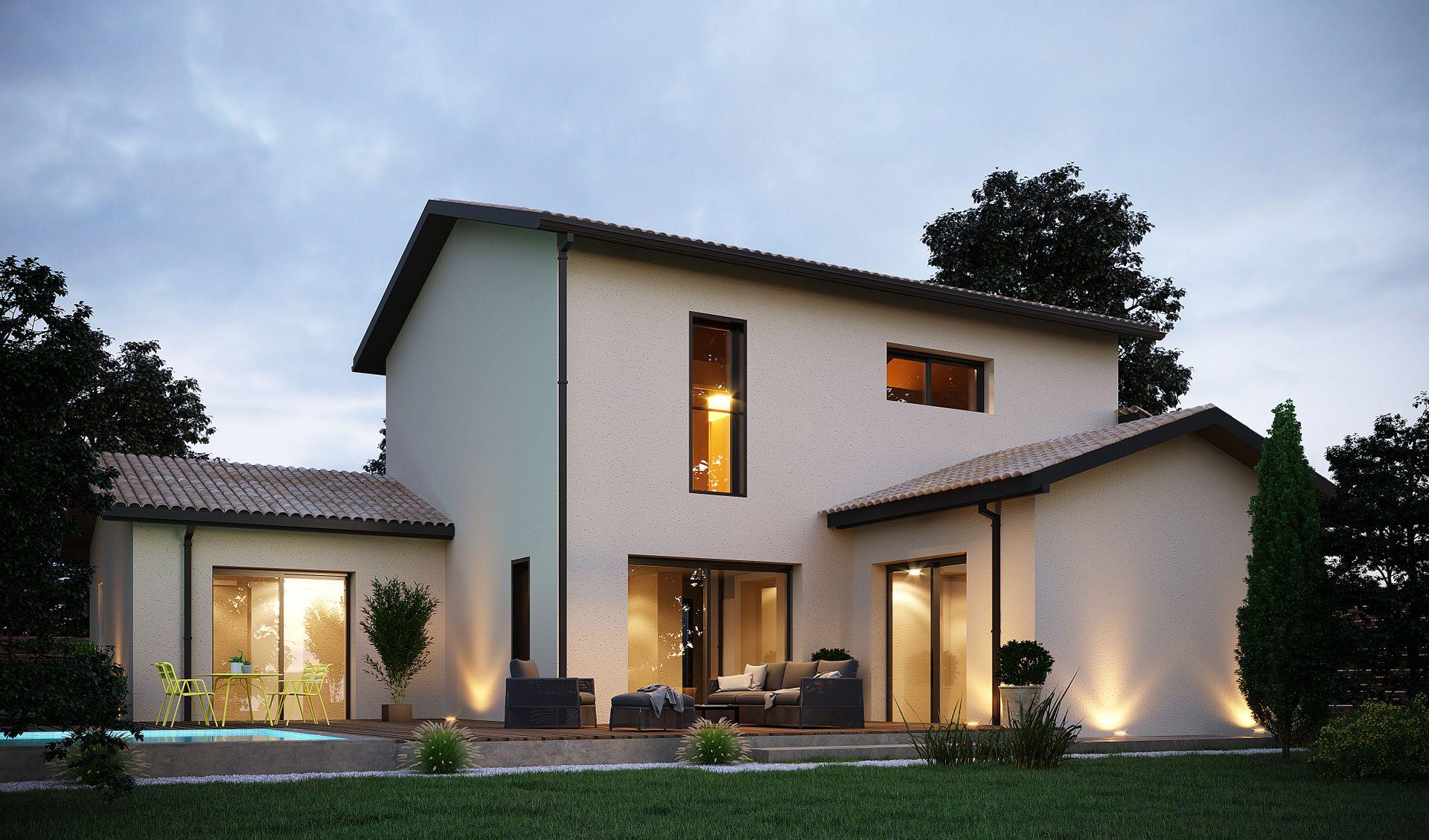 Maison Bouvier Sainte Luce Sur Loire constructeur de maison nantes - maisons arlogis à carquefou