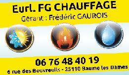 FG Chauffage EURL climatisation, aération et ventilation (fabrication, distribution de matériel)