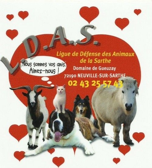 Ligue de Défense Animaux de la Sarthe refuge et fourrière pour animaux