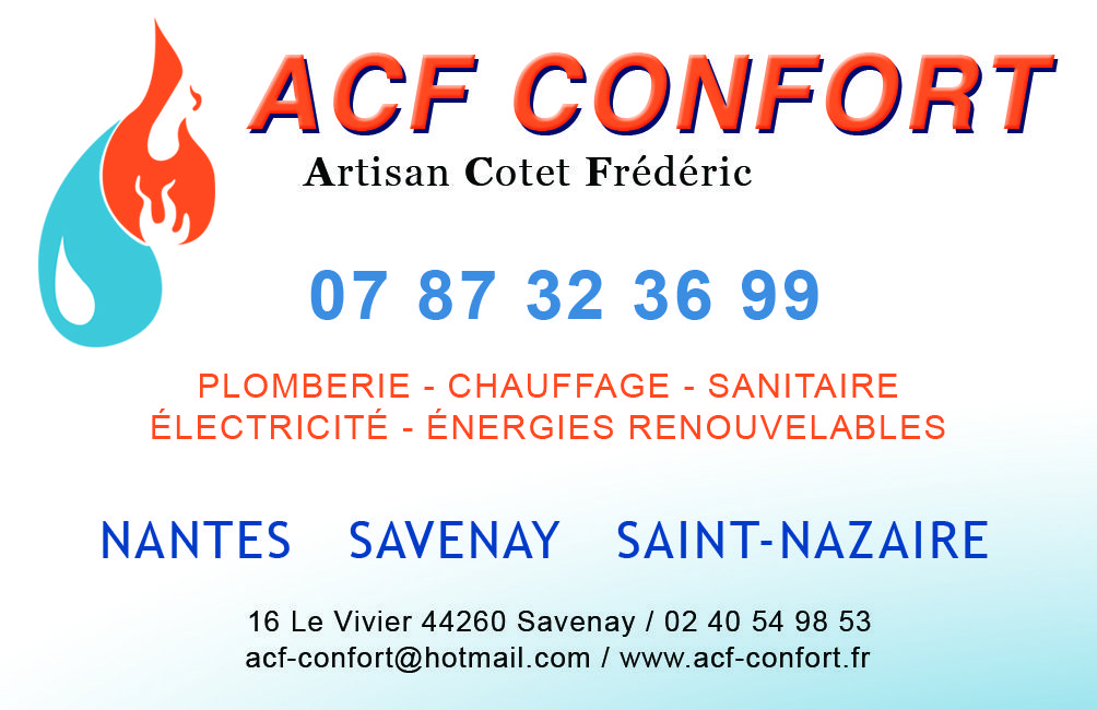 ACF Confort COTET FREDERIC chauffagiste